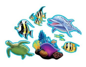 Underwater Theme Party Assorted Cutouts - 8CT-0