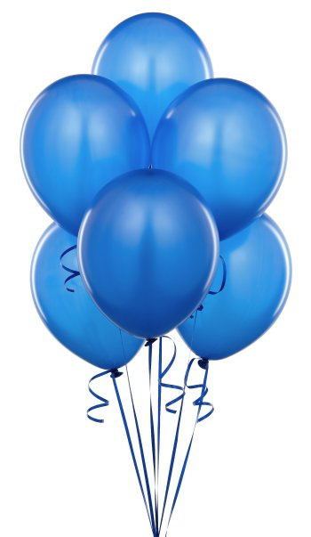 "8"" Blue Latex Balloon - 20Ct-0"