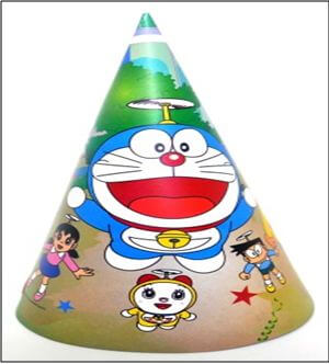 Doraemon Adult Hats - 10PC-0