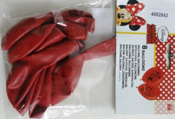 "Minnie Mouse 12"" Latex Balloons - 8CT-0"