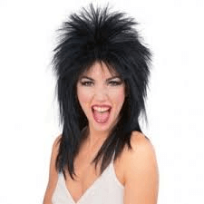 Rocker Girl Black Wig - 1PC-0