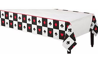 "Card Night Plastic Tablecover 54X108""-0"