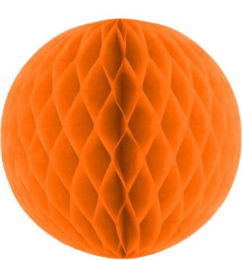 Orange Honeycomb Ball Decoration 10''-0