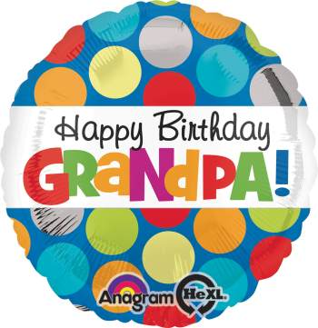 "Happy Birthday Grandpa 18"" S40-0"