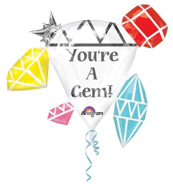 "You're A Gem Balloons 30"" P40-0"