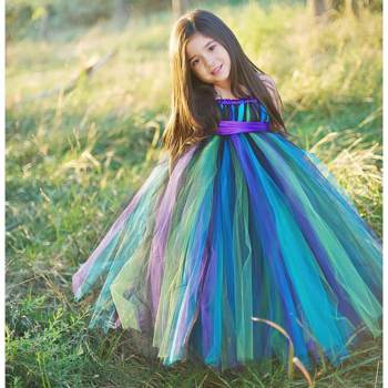 Little Miss Peacock Tutu Dress-0