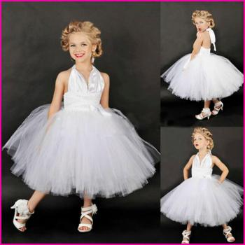 Hollywood Inspired White Tutu Dress-0