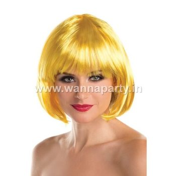 Colored Blunt Cut Wig - Gold-0