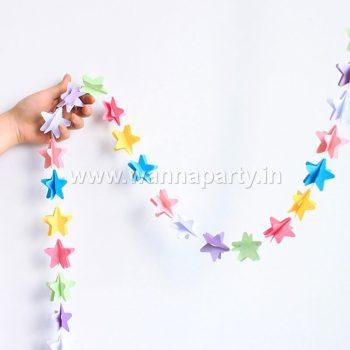 Multi Color 3D Star String Hanging Decoration-0