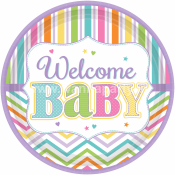 Welcome Baby Shower Lunch Plates -9PC-0