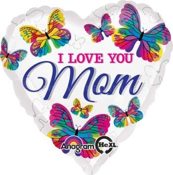 "I Love You Mom Balloons 18"" S40-0"