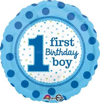 """1st Birthday Boy 18"""" S40-0"""