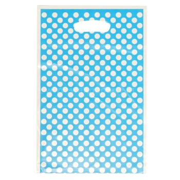 Big Polka Dot Loot Bags - 10PC - BLU-0