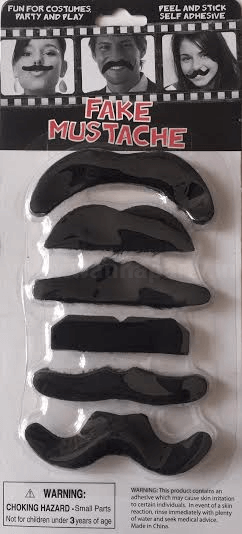 Moustache Kit Black - 6 PC-0