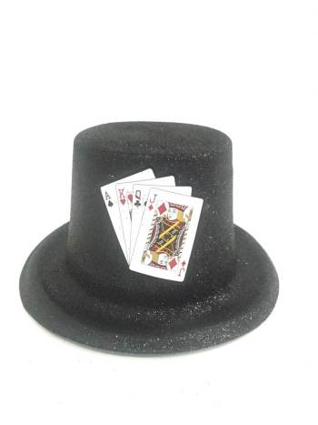 Glitter Top Hat Black with Glitter-0