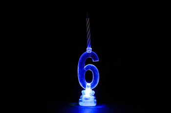 LED Numerical Candle 6-0