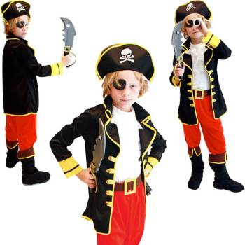 Kids Pirate Costume - S-M-L-XL-0