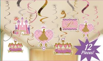 Princess Castle Swirl Decoration - 12PC-0
