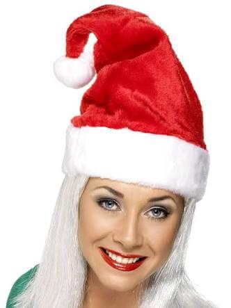 Red Plush Santa Hat-0