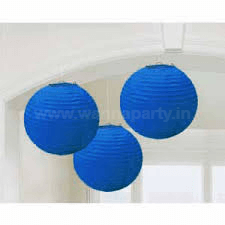 "Dark Blue Lanterns Small 9"" - 1PC-0"