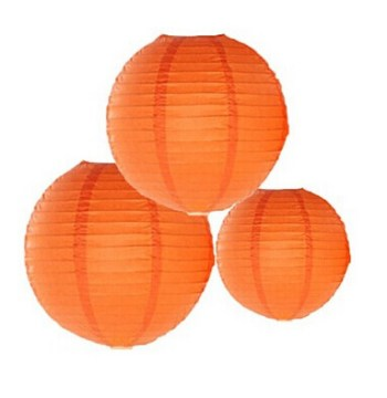 "Orange Lantern Small 9"" - 1PC-0"