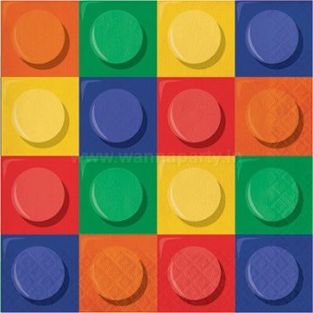 Lego Block Party Lunch Napkins - 16PC-0
