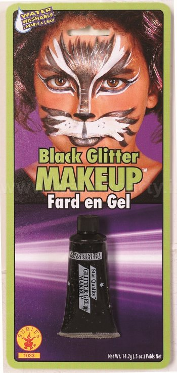 Black Glitter Gel Make Up-0