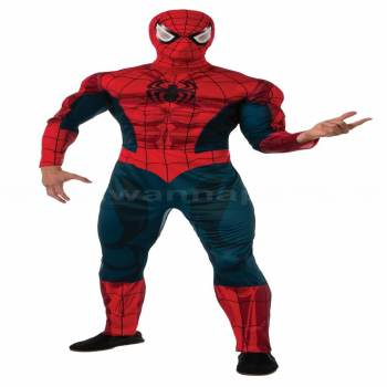 Deluxe Adult Spiderman Costume-0