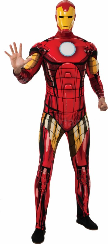 Deluxe Muscle Chest Adult Iron Man Costume-0