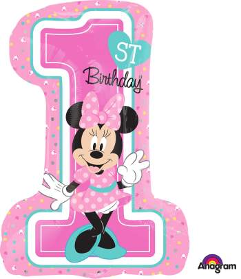 Minnie 1st Birthday Girl Balloon P38-0