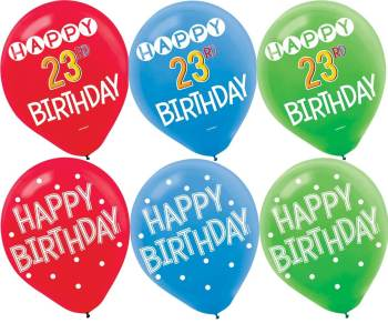 "Add An Age Customized Latex Balloons 12"" - 15PC -0"