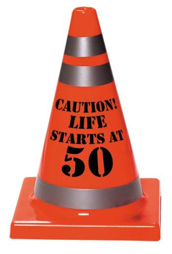 50th Birthday Plastic Cone-0