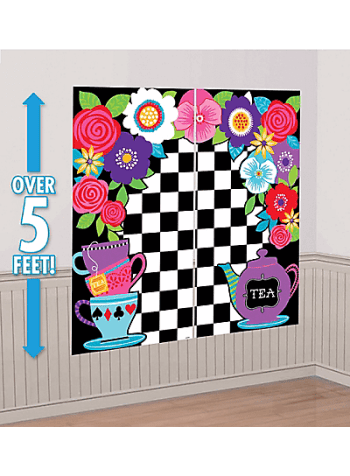 "Wonderland Mad Tea Party Scene Setter 65"" x 59"" - 5PC-0"