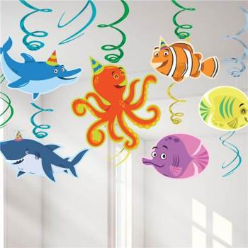 Ocean Buddies Swirl Decoration - 12PC-0