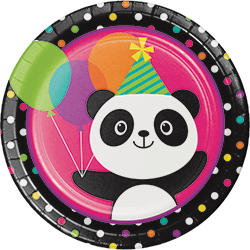 "Panda-Monium Paper Plates 9"" - 8PC-0"
