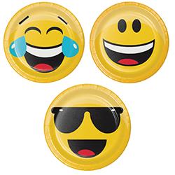 "Emojies Dessert Plates 9"" - 8PC-0"