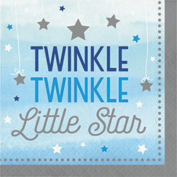 Twinkle Twinkle Little Star Boy Lunch Napkins - 16PC-0