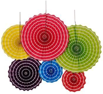 Multicolor Paper Fans