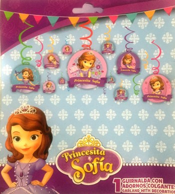 Princess Sofia Swirl Decoration - 12PC-0