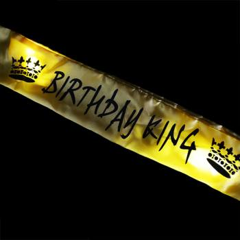 Birthday King Light Up Sash-0
