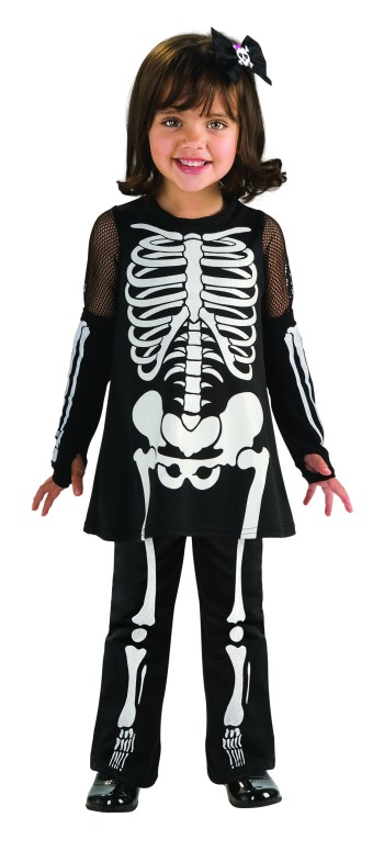 Toddler Skeleton Girls Costume-0
