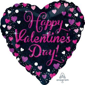 """Happy Valentines Day Balloon 18"""" S55-1PC-0"""