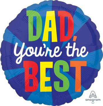 "Dad You're the Best Balloon 18"" S40-1PC-0"
