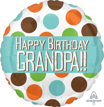 "Happy Birthday Grandpa Balloons 18"" S40-1PC-0"