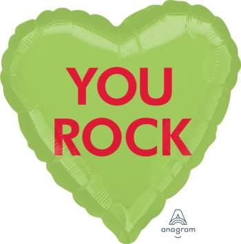"You Rock Heart Shape Balloon 18"" S40-1PC-0"