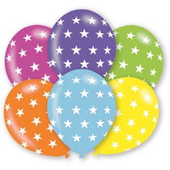 Polka Stars Print Balloons - 10PC-0