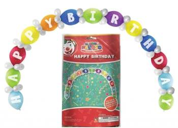 Happy Birthday Linking Balloon DIY Kit - 65PC-0