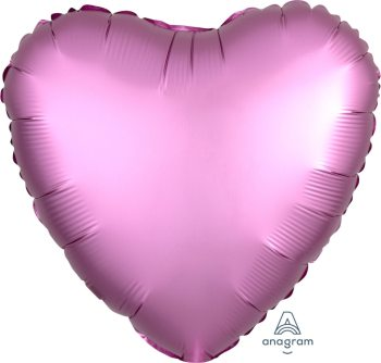 "18"" Matte Flamingo Pink Heart Balloon S15-0"
