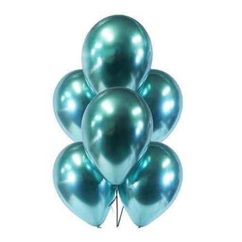 "11"" Chrome Green Latex Balloons - 10PC-0"
