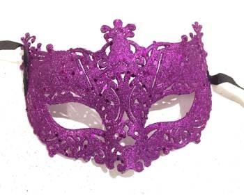 Glitter Fashion Eye Mask Pink - 1PC-0